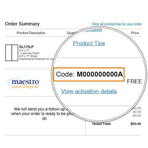 View your code on your order confirmation email.