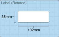 Product  - 102mm x 38mm Labels -  - 2,000 Per Roll