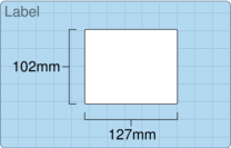 Product  - 102mm x 127mm Labels -  - 600 Per Roll
