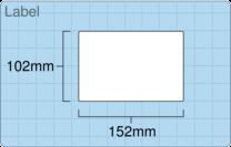 Product  - 102mm x 152mm Labels -  - 500 Per Roll