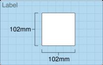 Product  - 102mm x 102mm Labels -  - 1,500 Per Roll