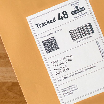 Delivery labels in use